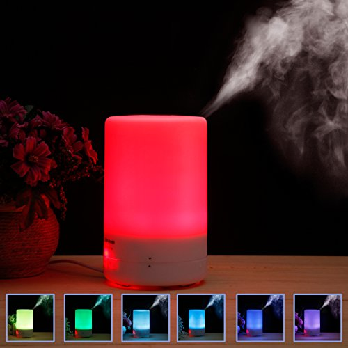 Essential Oil Diffuser, Parasom 3rd Version 180ml Cool Mist Aroma Humidifier Aromatherapy with Waterless Auto Shut-off, 4 Timer Setting & 8-10 Hours Diffusing, 7 Color LED Lights for Home Office
