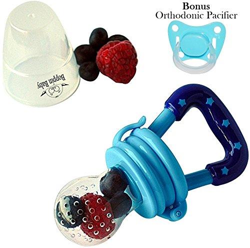 Boppin Baby Food Feeder | Baby Fruit Feeder | Teething Toy | Teether Nibbler (Blue)