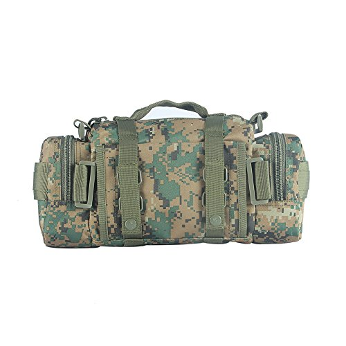 Yakeda Woodland Camouflage Canvas Shoulder Bag Military Tool Bag with Handle for Army--11.21