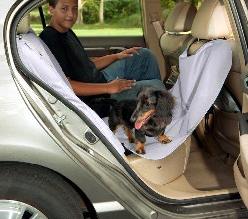 Bergan 88104 Heavy-Duty Hammock Car Seat Protector for Pets, Gray