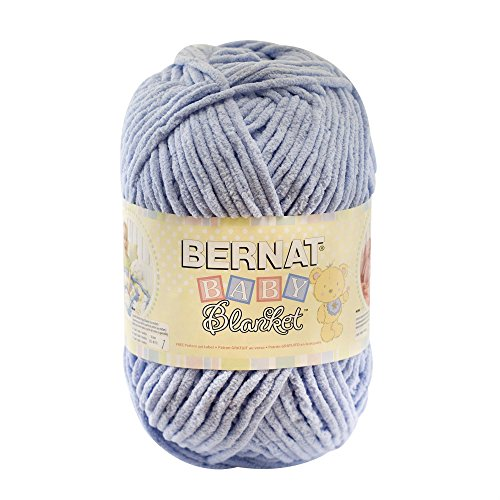 Spinrite Baby Blanket Big Ball Yarn, Baby Blue