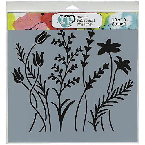 Crafters Workshop Template, 12 by 12-Inch, Wildflowers