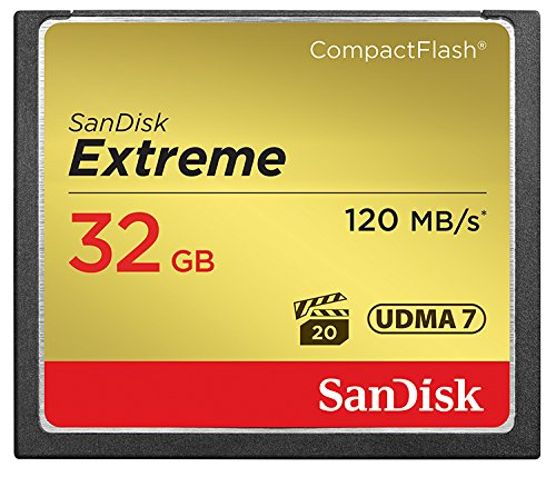 SanDisk Extreme Compact Flash 32 GB UDMA7 Memory Card up to 120 MB/s