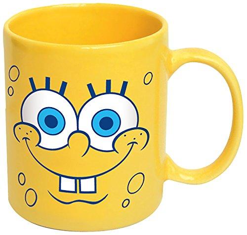 ICUP Spongebob Squarepants Big Faces Coffee Mug, Yellow