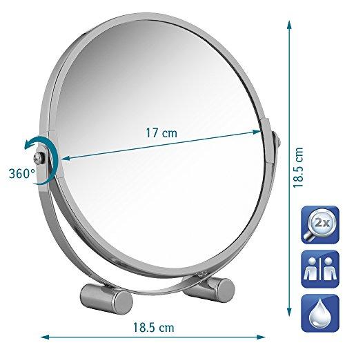 Tatkraft EOS Free Standing Swivel Shaving or Make Up Mirror d 17 cm Chrome