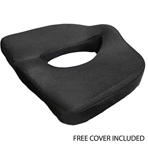 iPrimio ® Memory Foam Seat Cushion With Breathable Mesh. Best Shape and Design for Spine, Tailbone, Hemorrhoids, Neck, Sciatica.