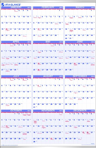 AT-A-GLANCE 2014 Yearly Wall Calendar, 24 x 36 Inches (PM12-28)