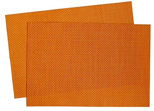 Squish Crossweave Woven Vinyl Placemat, Set of 4 - Burnt Harvest