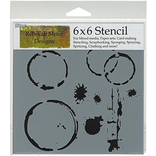 Crafters Workshop Template, 6 by 6-Inch, Coffee Splotch