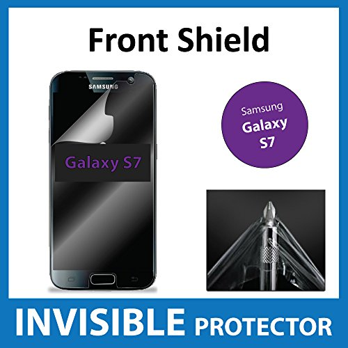 Samsung Galaxy S7 Front INVISIBLE Screen Protector Film (Front Shield included) Military Grade Protection Exclusive to ACE CASE