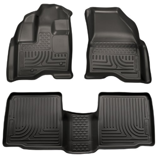 Husky Liners Custom Fit Front and Second Seat Floor Liner Set for Select Ford Taurus Models (Black)