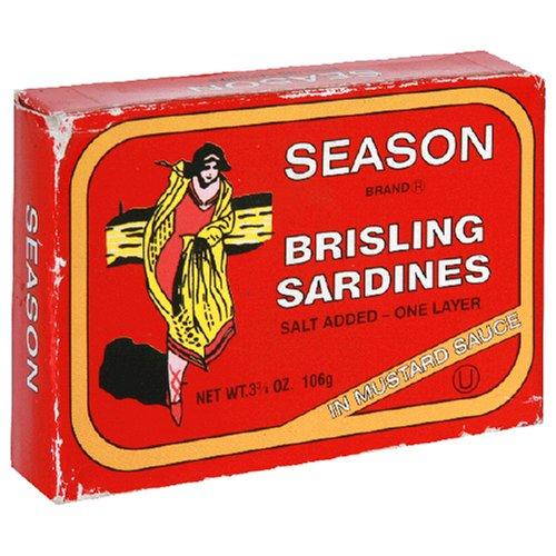 Seasons Brisling Sardines In Mustard, 3.75-Ounces (Pack of 12)