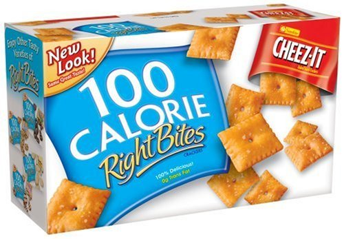 Cheez-it Baked Snack Crackers 100 Calorie Portions 6 Pouches 4.62 oz (Pack of 4)