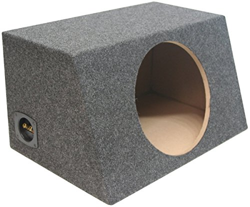 ASC Single 12 Subwoofer Sealed Universal Fit Angled Hatch Sub Box Speaker Enclosure