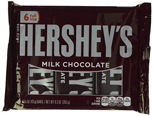 Hershey's Milk Chocolate Bars, 6 Count