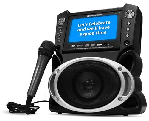 Emerson GM527 Karaoke Player with 7-inch LCD Screen, DVD/CDG/MP3G/iPod Compatibility & Voice Recording