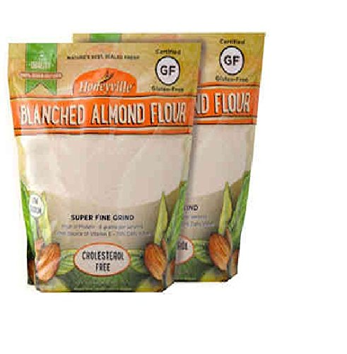 Honeyville's Blanched Super Fine Almond Flour, 3 Pounds Bag, Count of 2
