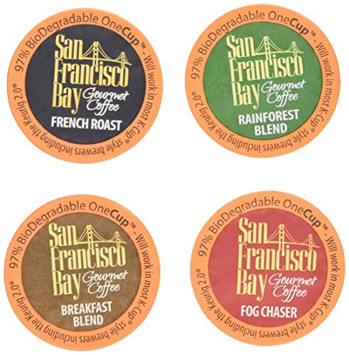 40 Count - San Francisco Bay OneCup Variety Pack (4 Flavors, 10 OneCups of Each Flavor)