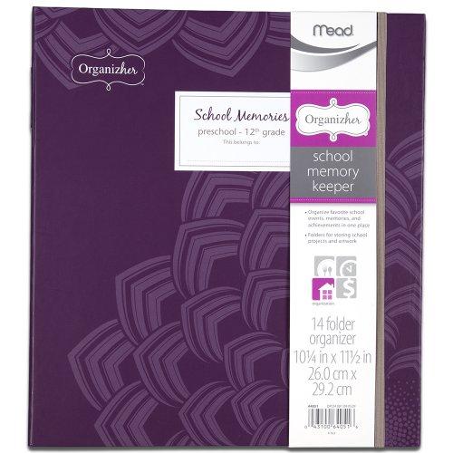 Mead Organizher School Memory Keeper, 14-Folder Organizher, 10.25 x 11.5 Inches, Purple (64051)