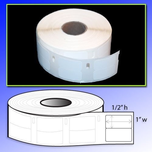 1/2x1 Multipurpose Label, Dymo 30333 Compatible for DYMO LabelWriters 330 400 450 Twin Turbo Duo 4XL Printer