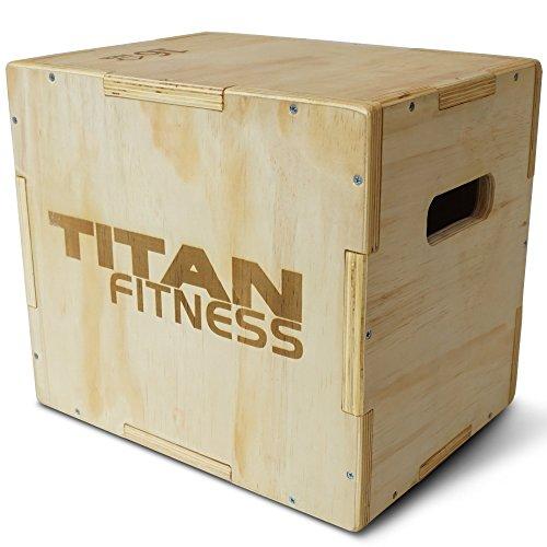 Titan Fitness 12 14 16 Wood Plyometric Box HD Plyo Box Jump Exercise Training