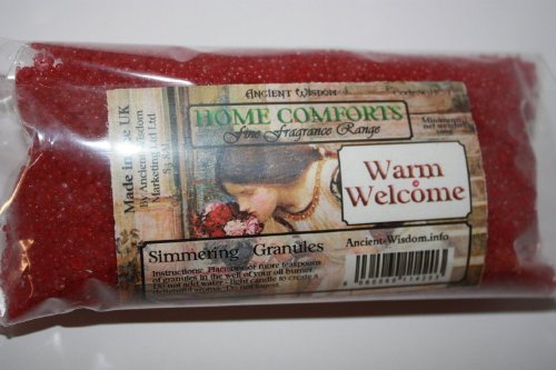 Warm Welcome (Entrance Hall) Home Comfort Simmering Granules 200g bag, Ideal for using in oil burners (instead of essential oils), scenting letters, putting in ashtrays to combat the smell, fragrancing and decorating vases & planters