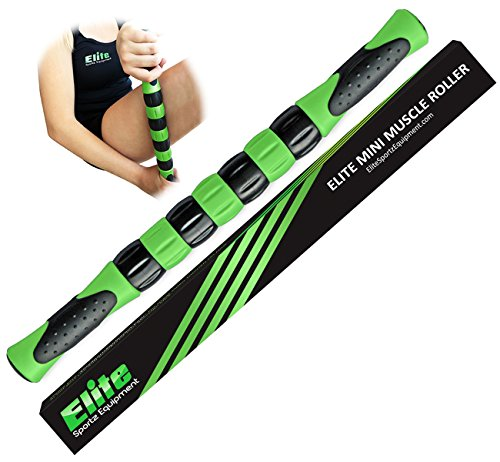 The Muscle Massage Roller Stick for Athletes - Fast Muscle Relief from Sore and Tight Leg Muscles and Cramping - Green
