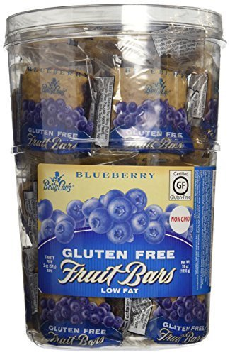 Betty Lou's Fruit Bars, Blueberry, 2 Ounce (Pack of 35)