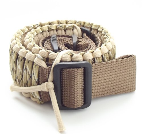 550 lb Paracord Survival 2 Point Gun/Rifle Sling-(Over 25 ft cord)
