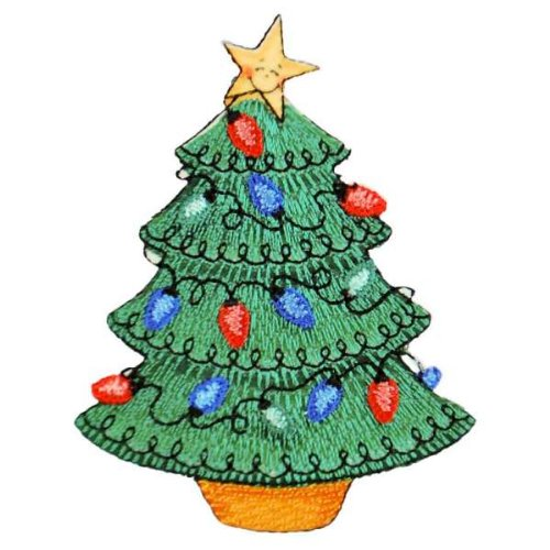 Expo BZP88525 Iron-on Embroidered Applique Bazooples, Christmas Tree