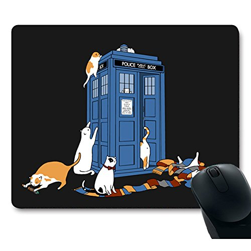 MP Custom Unique Desgin Doctor Who Stand Police Box Galaxy Space Grumpy Cat Funny Kitty Creative Rectangle Non-Slip Pro Gaming Mouse pad