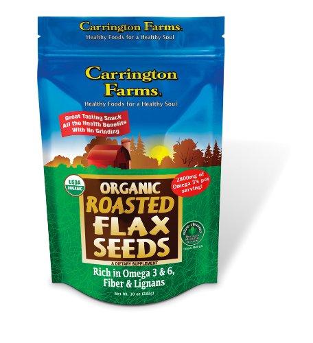 Carrington Farms Organic Roasted Flax Seed, 10-Ounce (Pack of 3)