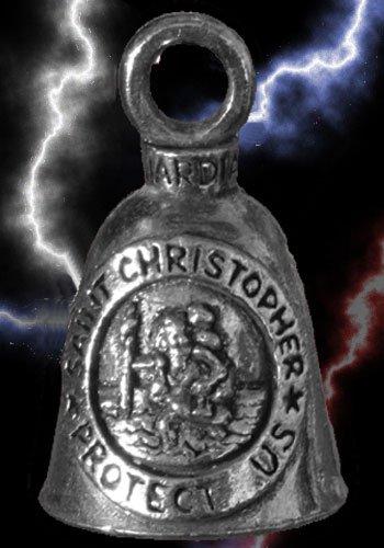 St Christopher Guardian Biker Bell