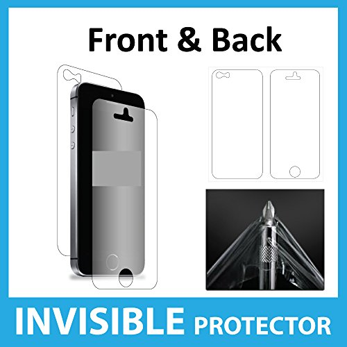 Apple iPhone SE / 5S / 5C / 5 Screen Protector Full Body INVISIBLE Film Shield (Front & Back Protectors included) Military Grade Protection Exclusive to ACE CASE
