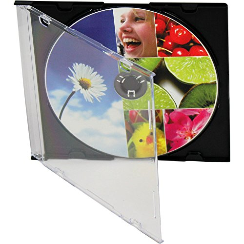 LINKYO® 5.2mm Slim Single Black CD/DVD Jewel Cases 200 Pack
