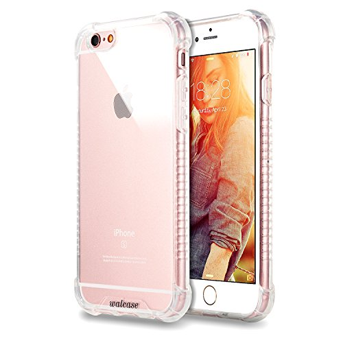 iPhone 6s case, Walcase [Clear Cushion] [Shock Absorbent] Premium Soft TPU Clear Case Cover for Apple iPhone 6S (2015) & iPhone 6 (2014) - Clear