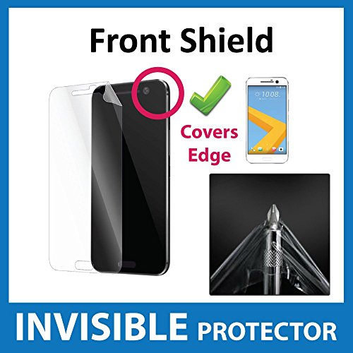HTC 10 HTC M10 Front INVISIBLE Screen Protector Curved Fit with Full Coverage Front Shield Military Grade Protection Exclusive to ACE CASE