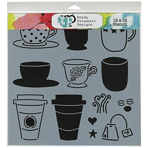 Crafters Workshop Template, 12 by 12-Inch, Cafe Latte