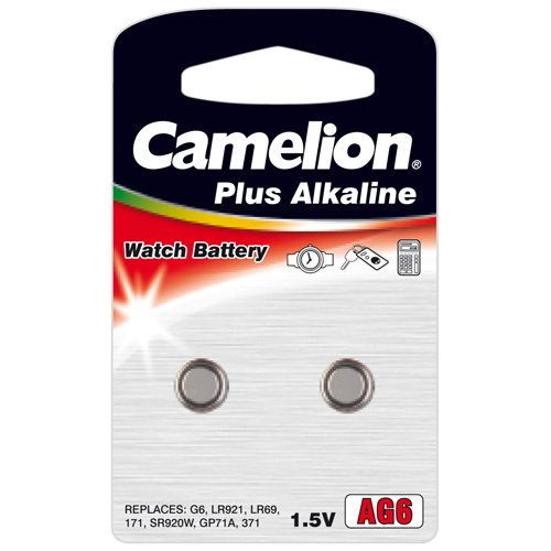 Camelion Alkaline AG6 1.5V Button Cell (Pack of 2)
