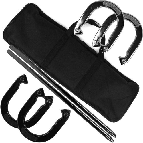 Trademark Games Professional Horseshoe Set - Heavy Duty with Carrying Case