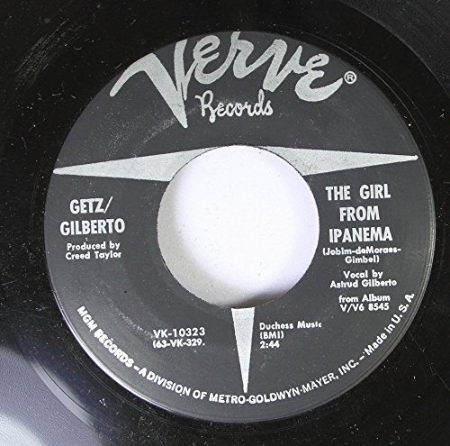 Getz/Gilberto 45 RPM The Girl From Ipanema / Blowin' In The Wind