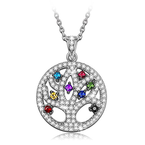NinaQueen *Tree of Life* 925 Sterling Silver Women Pendant with Cubic-zirconia Fine Necklace Jewelry