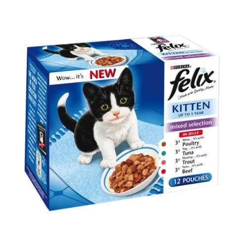 Felix Pouch Kitten 12 Pack 100g