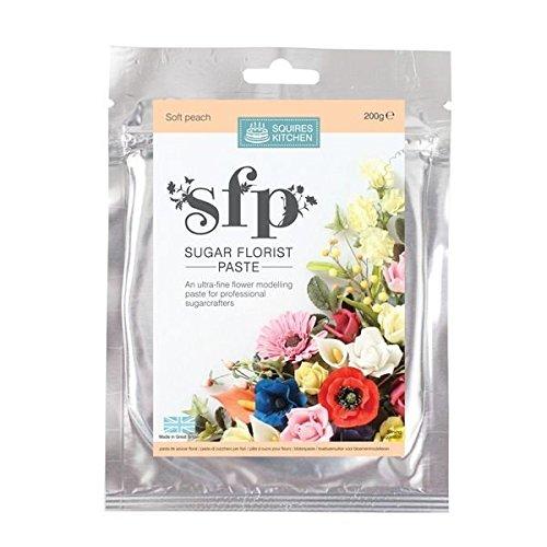 Squires Kitchen Sugar Florist Paste Soft Peach 200g
