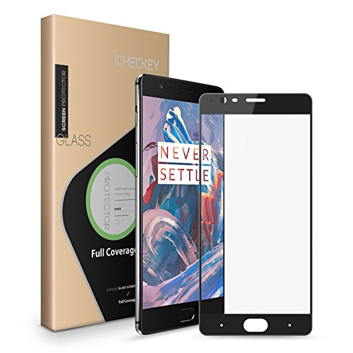Oneplus 3 Screen Protector, Icheckey Full Coverage Tempered Glass Screen Protector Cover for Oneplus3(2-Pack)