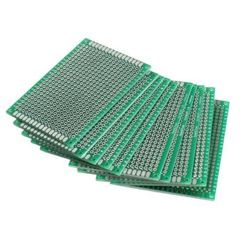 XT-XINTE 10 PCS 5x7cm Breadboard PCB Strip Matrix Board PCB Board