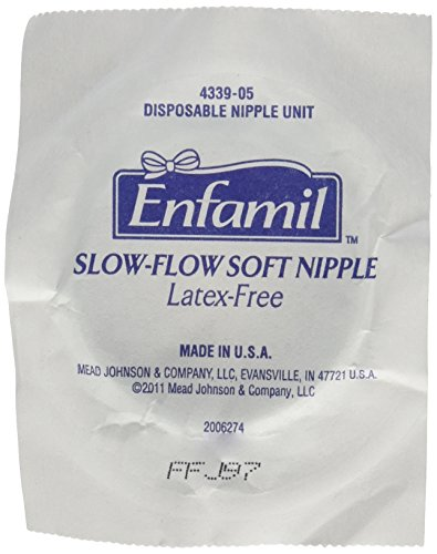 10/pk - Enfamil Disposable Slow-Flow Soft Nipples