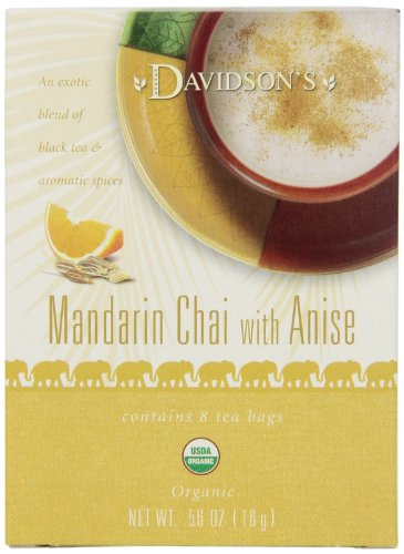 Davidson's Tea Mandarin Anise Chai, 8-Count Tea Bags (Pack of 12)