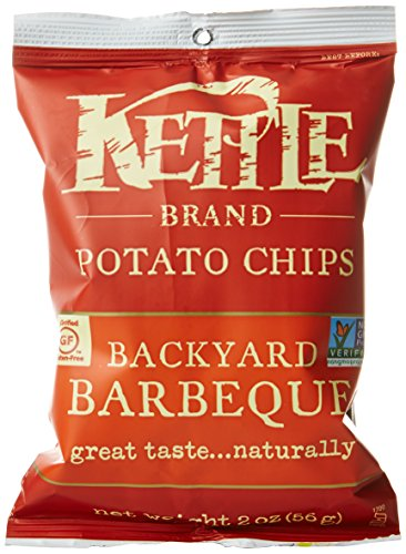 Kettle Brand Potato Chips Caddy, Backyard Barbeque, 2-Ounce Bags, 6 Count