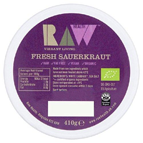 Organic Raw Fresh Sauerkraut - Unpasteurised 410g
